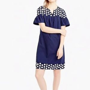 Jcrew embroidery dots shift dress